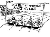 Data Entry Marathon Royalty Free Stock Photo