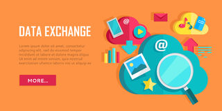 Data Exchange Banner Stock Photography
