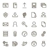 Data exchange icon set. Collection of high quality black outline logo for web site design and mobile apps. Vector illustration on a white background Stock Photography