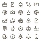 Data exchange icon set. Collection of high quality black outline logo for web site design and mobile apps. Vector illustration on a white background Royalty Free Stock Photo
