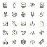Data exchange icon set. Collection of high quality black outline logo for web site design and mobile apps. Vector illustration on a white background Royalty Free Stock Photography