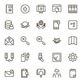 Data exchange icon set. Collection of high quality black outline logo for web site design and mobile apps. Vector illustration on a white background Royalty Free Stock Images