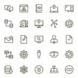 Data exchange icon set. Collection of high quality black outline logo for web site design and mobile apps. Vector illustration on a white background Stock Photo
