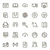 Data exchange icon set. Collection of high quality black outline logo for web site design and mobile apps. Vector illustration on a white background Stock Image