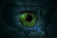 Data eye with technical background. royalty free stock images