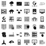 Data file icons set, simple style. Data file icons set. Simple style of 36 data file vector icons for web isolated on white background Royalty Free Stock Photography