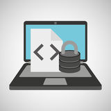Data file protection cyber security Royalty Free Stock Image