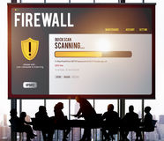Data File Protection Firewall Malware Removal Concept Royalty Free Stock Images