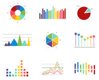 Data finance diagram graphic Royalty Free Stock Images