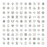 Data flat icon. Databse icon set. Collection of high quality outline server pictograms in modern flat style. Black information symbol for web design and mobile Royalty Free Stock Photography