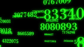 Data flow Motion Numbers stock footage