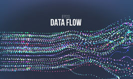 Data flow vector illustration. Digital information noise stream. Blockchain structure calculation. Data flow vector illustration. Digital information noise royalty free illustration
