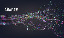 Data flow vector illustration. Digital information noise stream. Blockchain structure calculation. Data flow vector illustration. Digital information noise Royalty Free Stock Photo