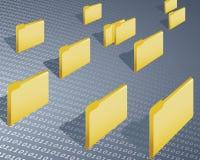 Data folder. Symbolic of data transfer and internet transfer Stock Image