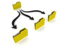 Data folder operations. Folder structure showing data operations like move copy sync etc Royalty Free Stock Images