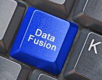 Data fusion. Hot key for data fusion stock photos