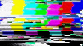 Data Glitch TV Color Bars Malfunction 11025 Royalty Free Stock Photography