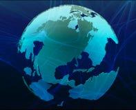 Data globe stock illustration