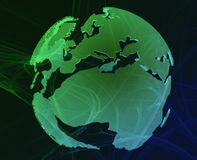Data globe Royalty Free Stock Images