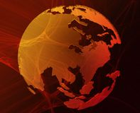 Data globe Stock Images