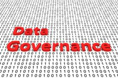Data governance. In the form of binary code, 3D illustration Royalty Free Stock Photography
