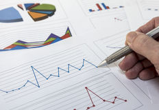 Data graphics analysis Stock Image