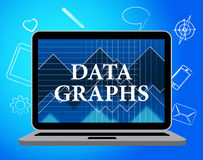 Data Graphs Means Statistical Diagram And Bytes Royalty Free Stock Photography