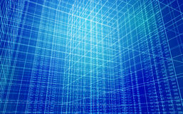 Data Grid. 3D Abstract Rendering of a data grid Stock Photo