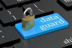 Data guard keyboard button Royalty Free Stock Photo