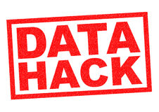 DATA HACK. Red Rubber Stamp over a white background royalty free illustration