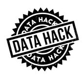 Data Hack rubber stamp. Grunge design with dust scratches. Effects can be easily removed for a clean, crisp look. Color is easily changed Royalty Free Stock Photography