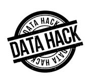 Data Hack rubber stamp. Grunge design with dust scratches. Effects can be easily removed for a clean, crisp look. Color is easily changed Royalty Free Stock Image
