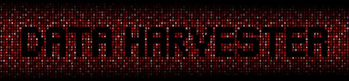 Data Harvester text on red hex background illustration Royalty Free Stock Photos