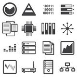 Data icon set, vector illustion flat design style. Data icon set on white background, vector illustion flat design style Royalty Free Stock Photos