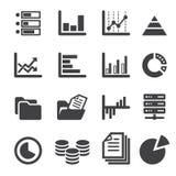 Data icon set Royalty Free Stock Photos