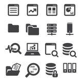 Data icon set Stock Images