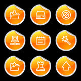 Data icons Stock Photography