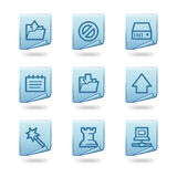Data icons Royalty Free Stock Photography