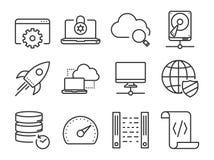 Data icons Stock Image