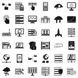 Data icons set, simple style. Data icons set. Simple style of 36 data vector icons for web isolated on white background Royalty Free Stock Image