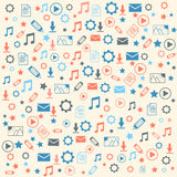 Data icons on white background Royalty Free Stock Image