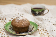 Data il muffin Fotografia Stock Libera da Diritti