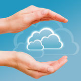 Data In The Secure Cloud Stock Photo