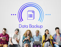 Data Information Documents Icon Concept. People Read Data Information Documents Icon Royalty Free Stock Images