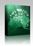 Data information loss box package royalty free illustration