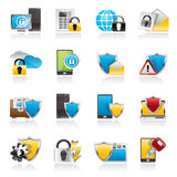 Data and Information Protection Security Icons Royalty Free Stock Images