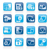 Data and Information Protection Security Icons Royalty Free Stock Image
