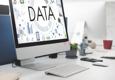 Data information Technology Connection Futuristic Concept Stock Photos