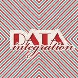 Data Integration Concept on Striped Background. Data Integration Concept on Red and Blue Striped Background. Vintage Concept in Flat Design Stock Images