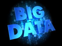 Data Integration on Dark Digital Background. Royalty Free Stock Photography